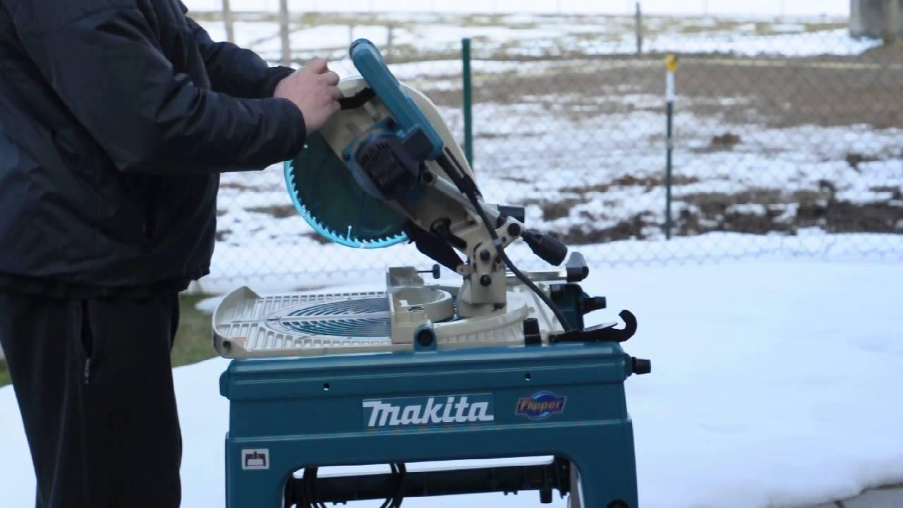 Makita LF1000 Flipover Saw Handling