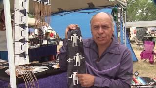 Native American creates rare wampum bead pieces