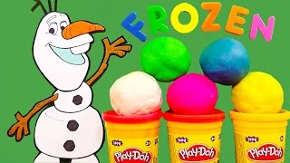 Play Doh Frozen Surprise Eggs Olaf Elsa Anna Disney Toys