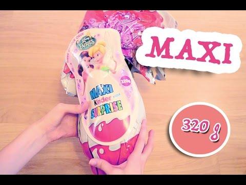 Самый Большой Киндер Сюрприз Макси Феи Диснея 320 грамм  Kinder Surprise Maxi Disney Fairies 320g