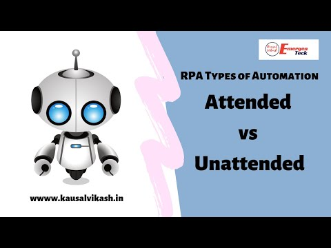 RPA Types of Automation | Attended vs Unattended | EmergenTeck
