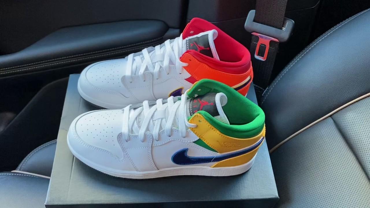 Air Jordan 1 Mid GS Mismatch sneakers