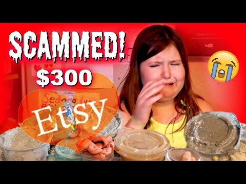 THE WORST ETSY SLIME PACKAGE EVER! | I WAS SCAMMED! DO NOT BUY FROM THIS ETSY SELLER! skit