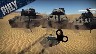 REALISM CHALLENGE - Sherman VS KING TIGERS (War Thunder Gameplay)