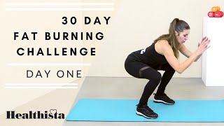 30 Day Fat Burning Home Workout challenge | Day One screenshot 2