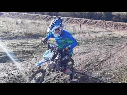 Ride About On A M2R Kx110 Pitbike.