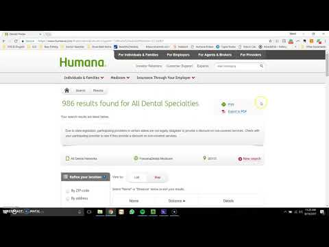 Step-by-Step How-To Dental Provider Search: Humana Medicare Advantage