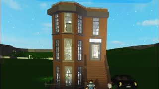 Bloxburg | *Aesthetic 4 Story New York City Brownstone Townhouse * | ROBLOX