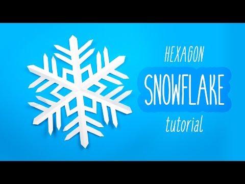 Easy DIY Snowflake (6 Pointed) - Christmas - Paper Kawaii
