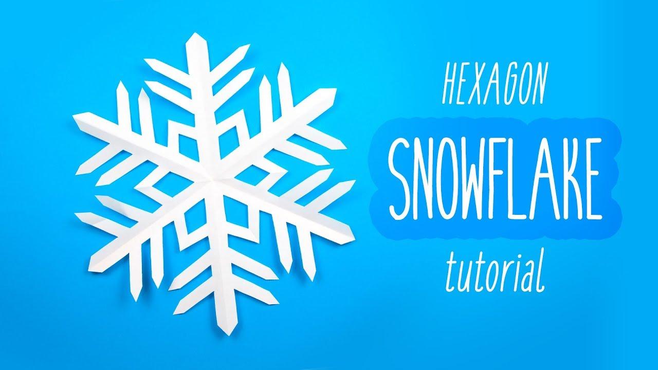 Easy DIY Snowflake 6 Pointed