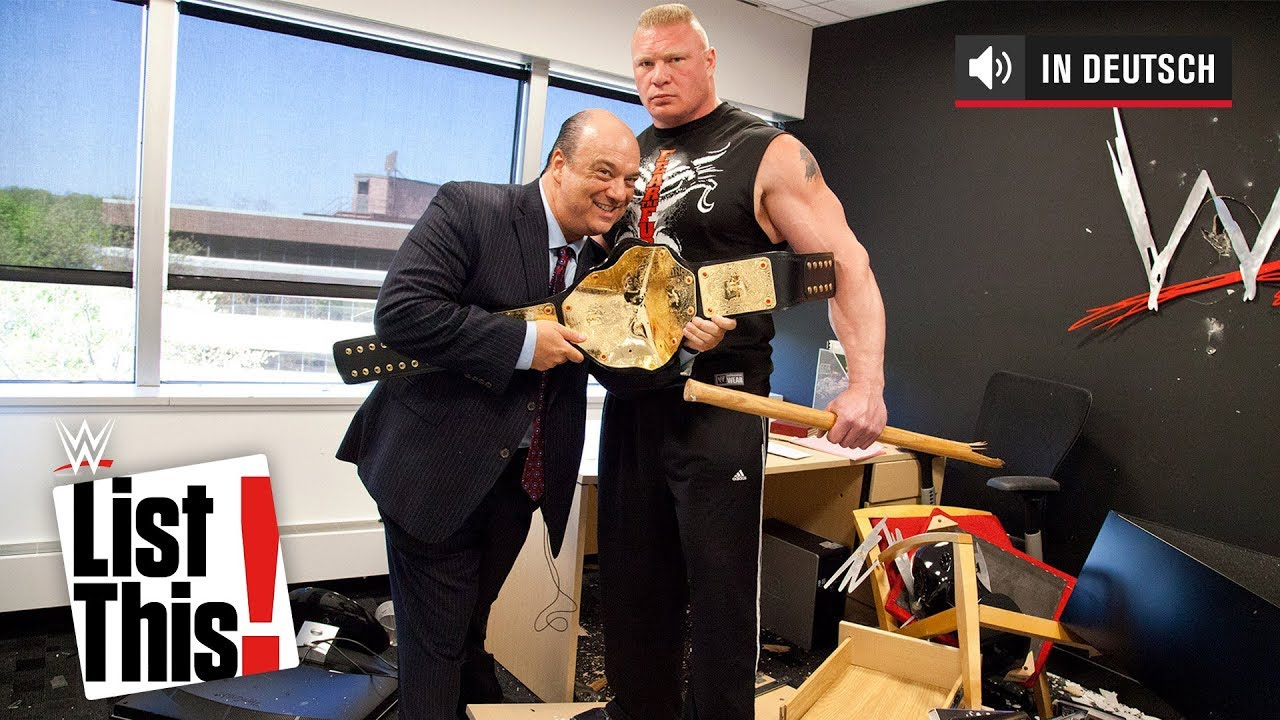 5 vergessene Brock Lesnar Momente - WWE List This! (DEUTSCH)