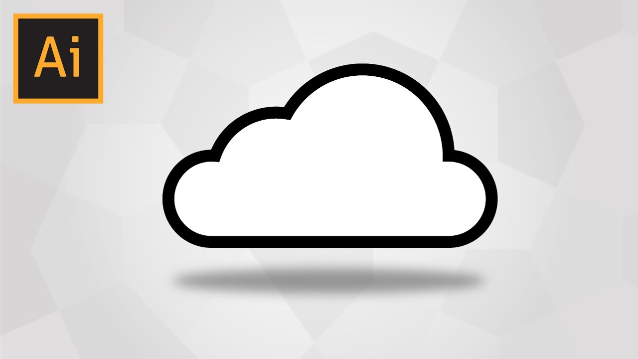 how to draw a simple cloud in adobe illustrator youtube