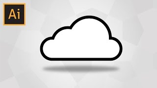 How To Draw A Simple Cloud In Adobe Illustrator (With Voice Explaining)