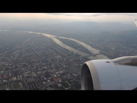 Landing in Budapest (nice view of the City)