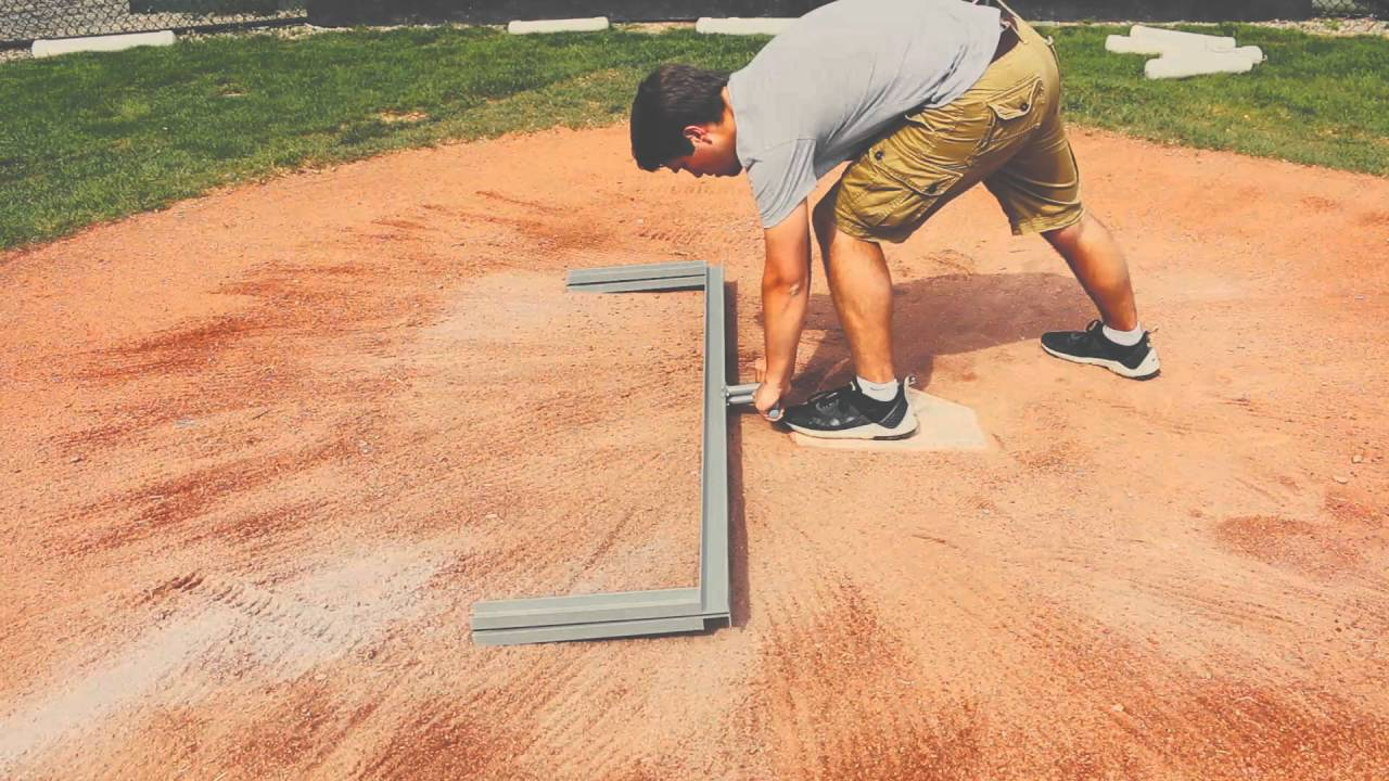 How To Properly Line A Baseball Field Field Youtube
