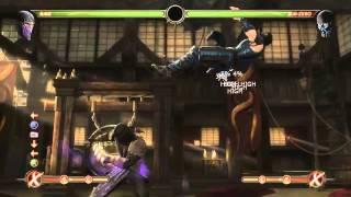 Mortal Kombat 9 - Rain обучение + комбо