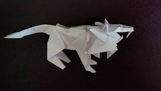 Designed by: Tetsuya Gotani Как сделать льва оригами, lion origami ...