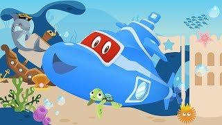 новый автомобильный город ! Карл Супер Грузовик под водой: Исследуя Океан