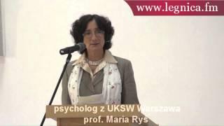 Prof. Maria Ryś, psycholog z UKSW Warsz...
