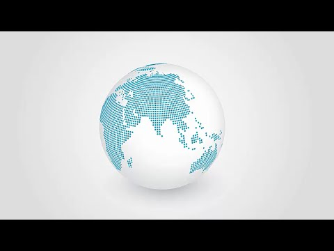 Adobe Illustrator: Peta Dunia 3D (3D World Map)