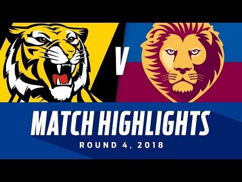 Match Highlights: Richmond v Brisbane | Round 4, 2018 | AFL