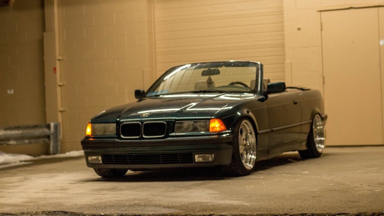 Slammed Bmw E36 Convertible Winter Moves Youtube
