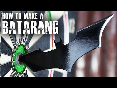 "How to make a Batarang like ""The Dark Knight"""