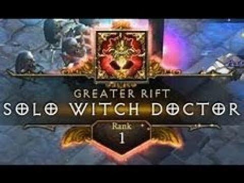 Diablo 3   GR131 Solo Witch Doctor   Rank 1 EU (Jade)