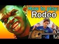 How to play LiL Nas X Rodeo on Guitar, with FAST PART and Tabs //  Lesson & Tutorial