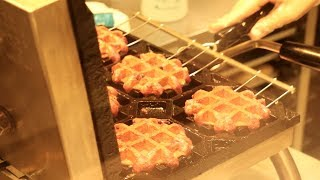 Japanese Street Food - Waffles Ice Cream Okinawa Japan