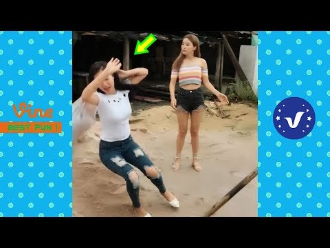 Funny Videos 2018 ● Top cute girl doing funny things P1 thumbnail