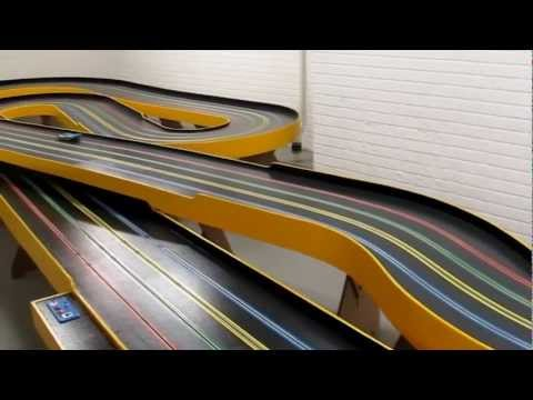 BRM Slot Car on almost finished basement track
