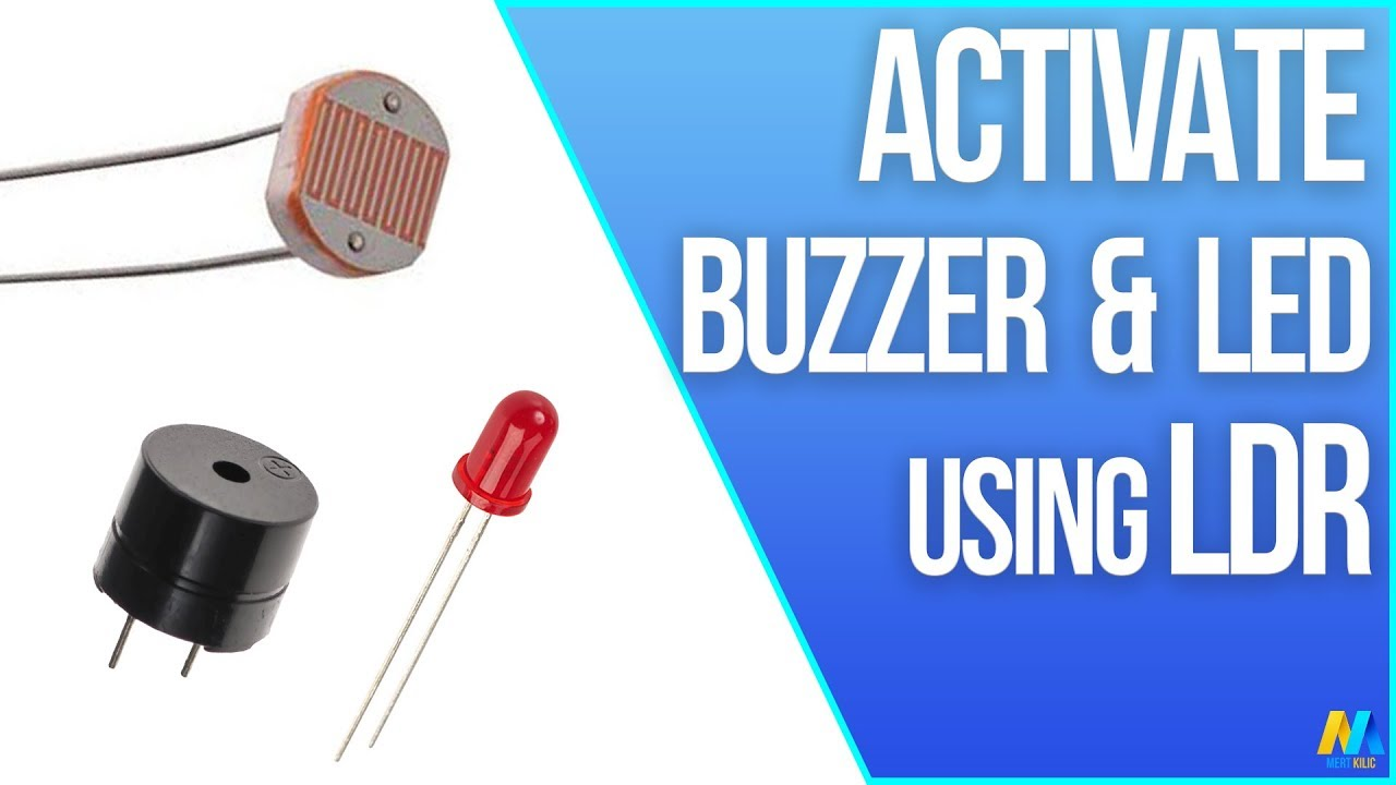 Circuit Light Sensitive Switch With Ldr 2n2926 Activate Buzzer And Led Using Arduino Youtube