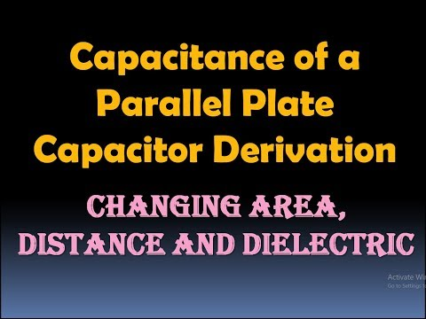 Capacitance of a Parallel Plate Capacitor Derivation (changing Area, Distance and Dielectric) [HD]