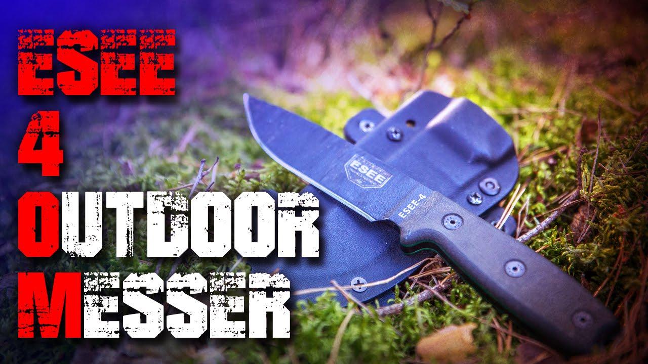 Esee 4 Survival Bushcraft Messer Review Test Outdoortest Edc