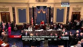 Senate KeystoneXL Pipeline Vote and Protest (C-SPAN)