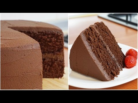 Homemade moist chocolate cake recipe from scratch