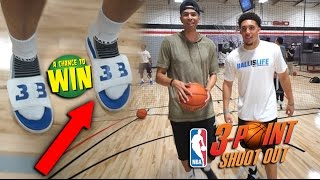 NBA 3 POINT CHALLENGE vs LiAngelo Ball for RARE Big Baller Brand SHOES!!