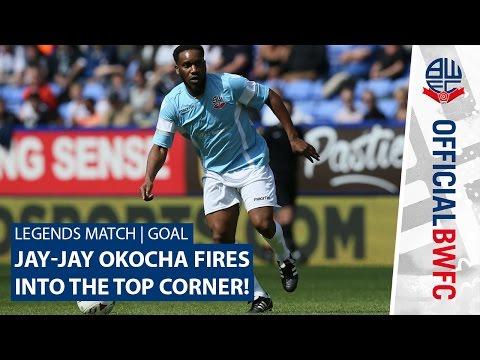 LEGENDS MATCH | GOAL | Jay-Jay Okocha fires into the top corner!