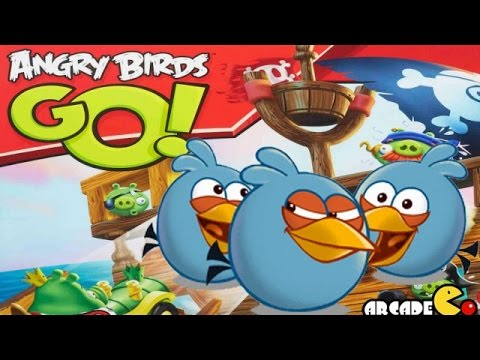 Angry Birds Go! Jenga The Blues Off Roadster Game - YouTube