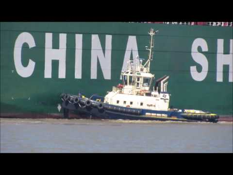 CSCL Arctic Ocean arriving at Felixstowe 10th May 2017