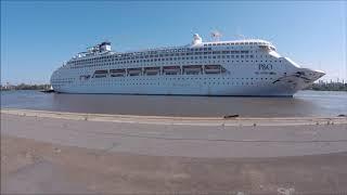 P&O Cruises Australia Pacific Dawn Departure from Brisbane