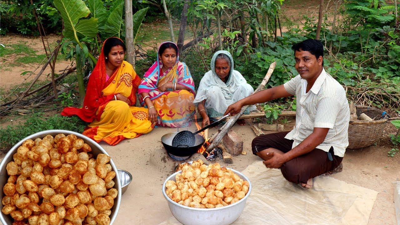 Golgappa Recipe | Pani Puri Recipe | How To Make Village Style Fuchka at Home #1