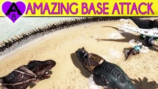 EPIC ATTACK ON THIS BASE | Ark Survival Evolved Unofficial Gameplay | Season 4 E8