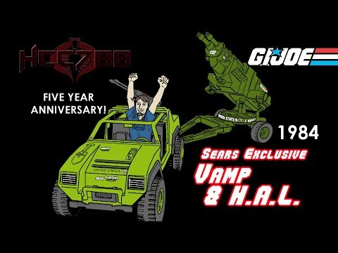 HCC788 - 1984 Sears VAMP And HAL - 5 YEAR ANNIVERSARY! G.I. Joe Toy Review!