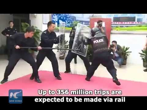 Bomb Disposal Robots Join Security Check In Railway Stations In S China
