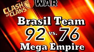 BRASIL TEAM vs  MEGA EMPIRE   Clan War Nov14