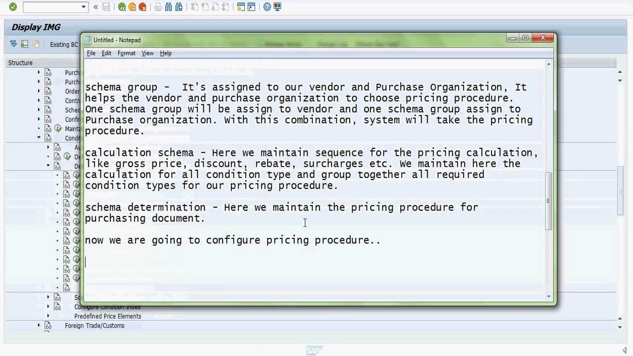 SAP MM Pricing Procedure Configuration