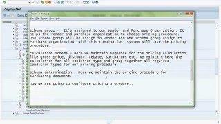 SAP MM Fiyatlandırma Prosedürü Yapılandırma