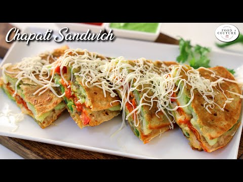 Chapati Sandwich | Easy & Quick Recipe | Instant Snacks | Chetna Patel Recipes